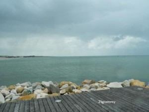 pouring rain in cesenatico