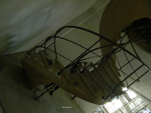 The stairs of the internal theater