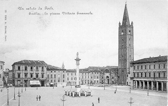Piazza Saffi as it was in 1800