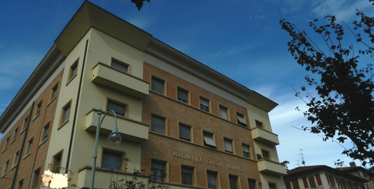 caproni buildings predappio emilia romagna atrium