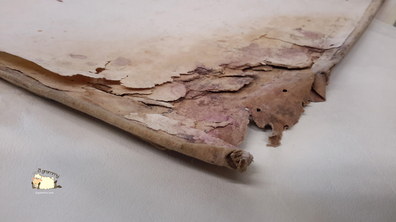 forli ancient books restoring