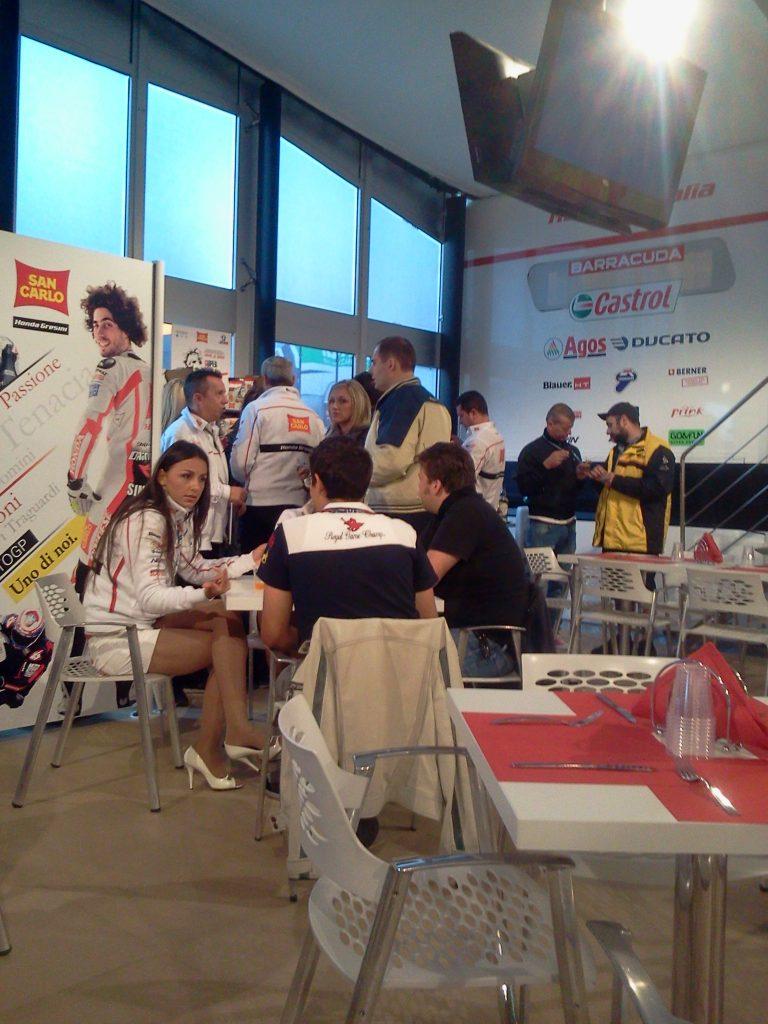 Hospitality Sancarlo Honda Gresini Team Misano 2012