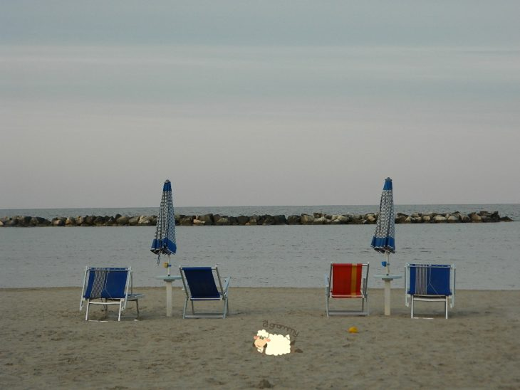 the beach of bellaria